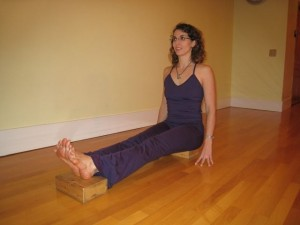 Dandasana on Blocks