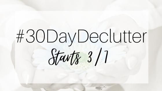 #30DayDeclutter